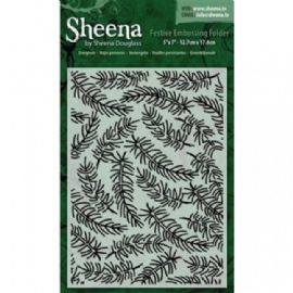 Sheena Douglass - Festive Embossing Folder - Evergreen 5x7